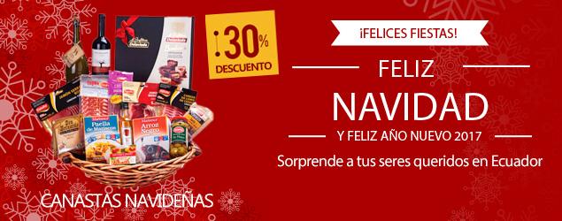 Canastas navideñas a domicilio en Ecuador